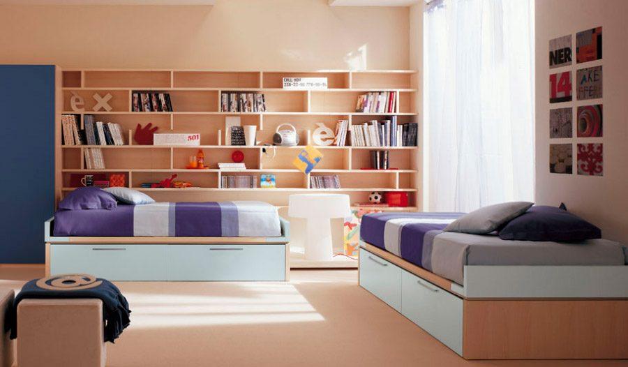 Galer a de im genes ideas para habitaciones dobles infantiles for Ideas para piezas