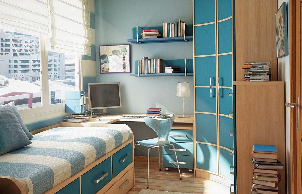 Decoraci n minimalista en una habitaci n peque a - Muebles habitacion pequena ...