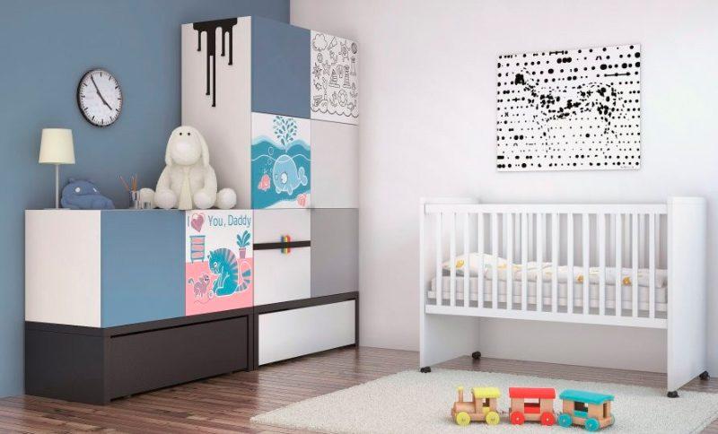 Habitaci n con armario personalizado con vinilos for Habitacion con vinilo