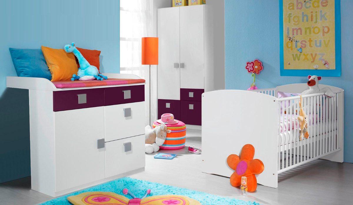 Muebles blancos para habitacion de bebe for Muebles de habitacion en blanco