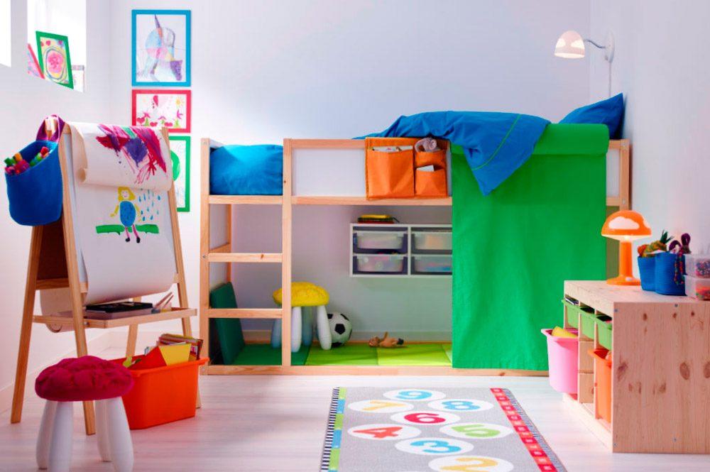 Habitaci n colorida para ni os creativos im genes y fotos for Habitaciones infantiles dobles ikea