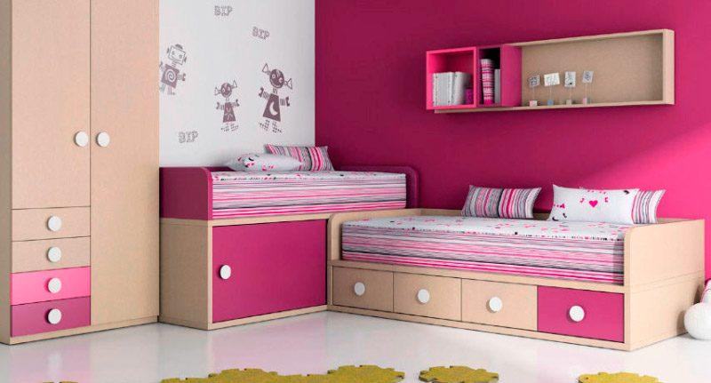 Habitaci n con muebles de colores im genes y fotos - Muebles para cuarto de nina ...