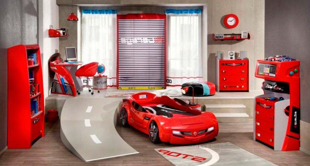 Habitaci n infantil de carreras de coches im genes y fotos - Habitaciones ninos originales ...