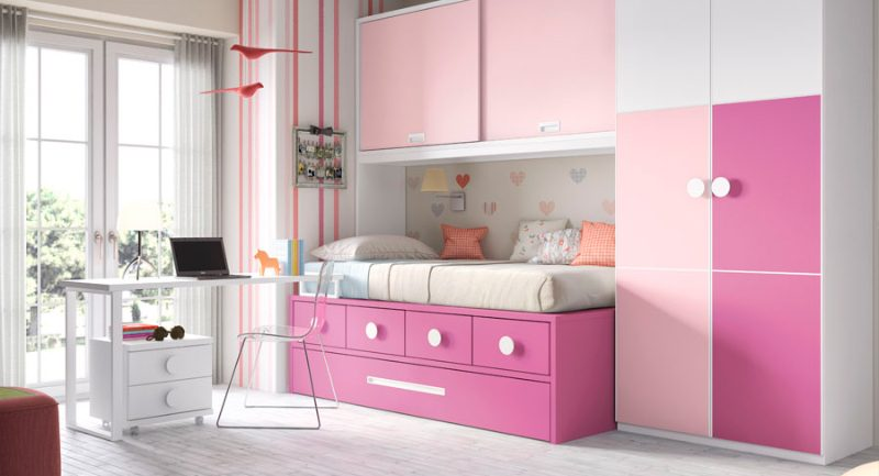 Habitaci n infantil moderna con muebles modulares im genes y fotos - Muebles para cuarto de nina ...