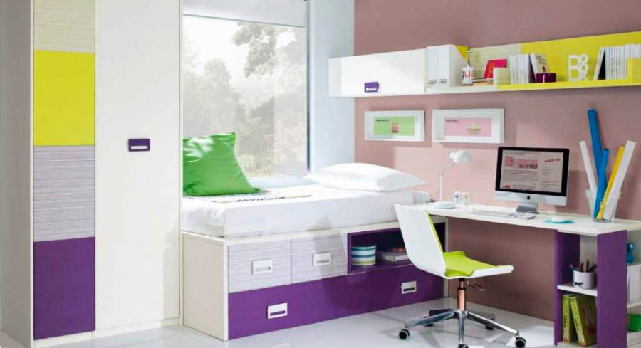 Muebles para habitaciones juveniles - Decoracion habitaciones pequenas juveniles ...
