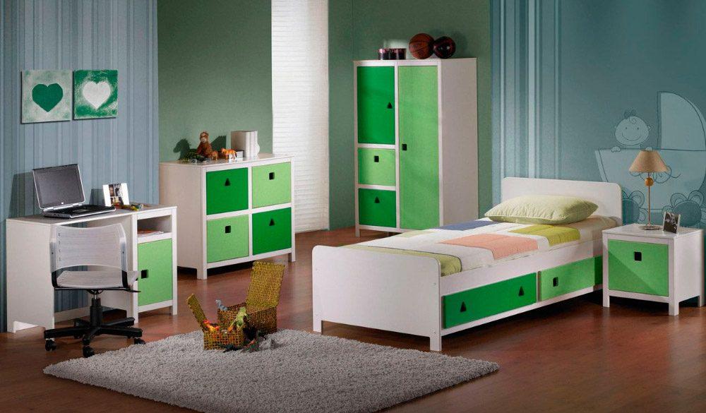 Habitaci n moderna en colores verdes im genes y fotos - Habitacion bebe moderna ...