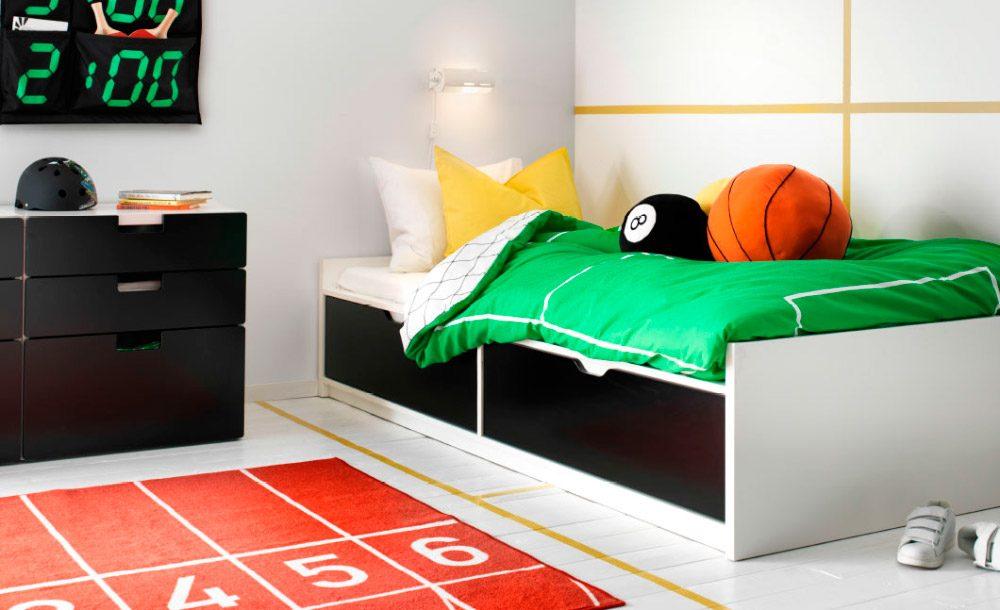 Ikea Poang Chair Oak Veneer ~ Habitación para adolescentes deportiva
