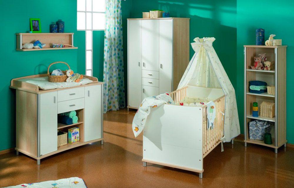 Ideas para habitaciones de beb s for Color verde grisaceo para paredes