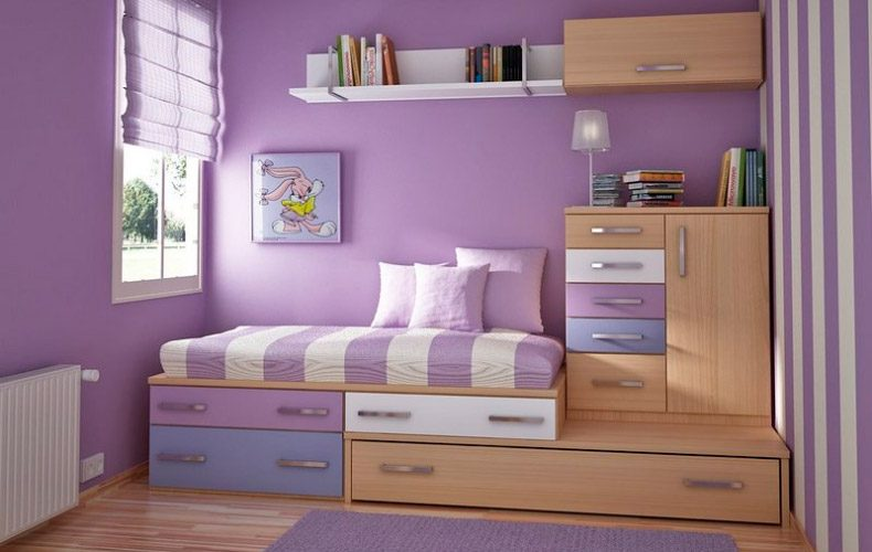 habitacin para nia con muebles modulares