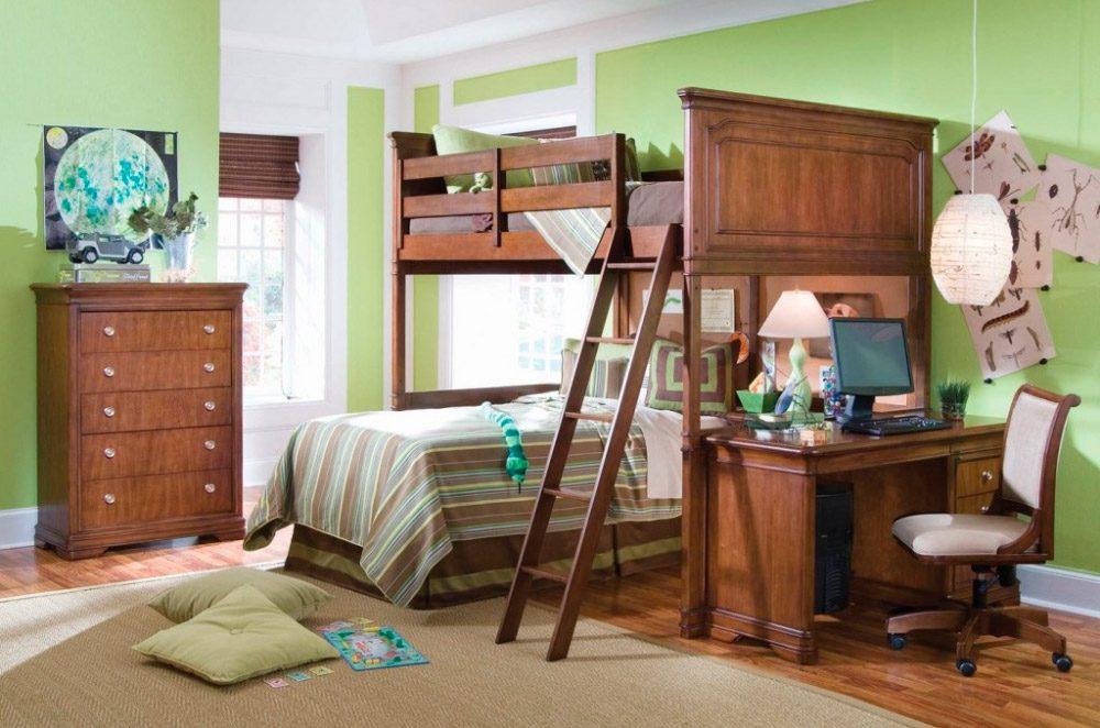 Habitaciones infantiles con literas for Literas de madera para ninos