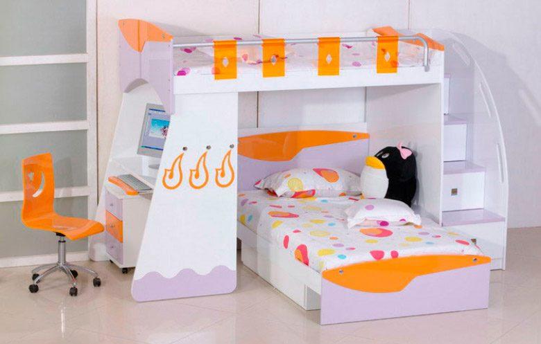 Habitaciones infantiles con literas - Habitaciones pequenas para ninas ...