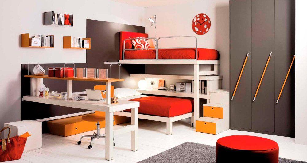 Muebles de ni os para habitaciones peque as casa dise o for Diseno habitaciones pequenas