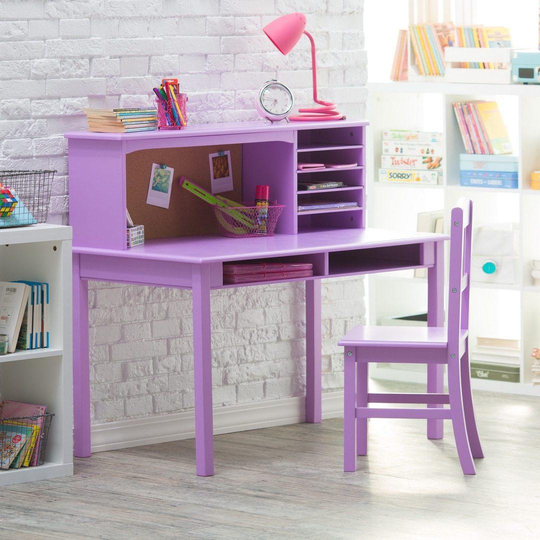 Mesa de estudio infantil violeta im genes y fotos - Mesa estudio infantil ...