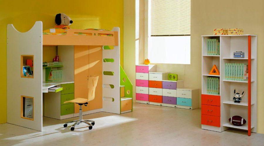 Muebles coloridos para ni os im genes y fotos - Dormitorios dobles para ninos ...