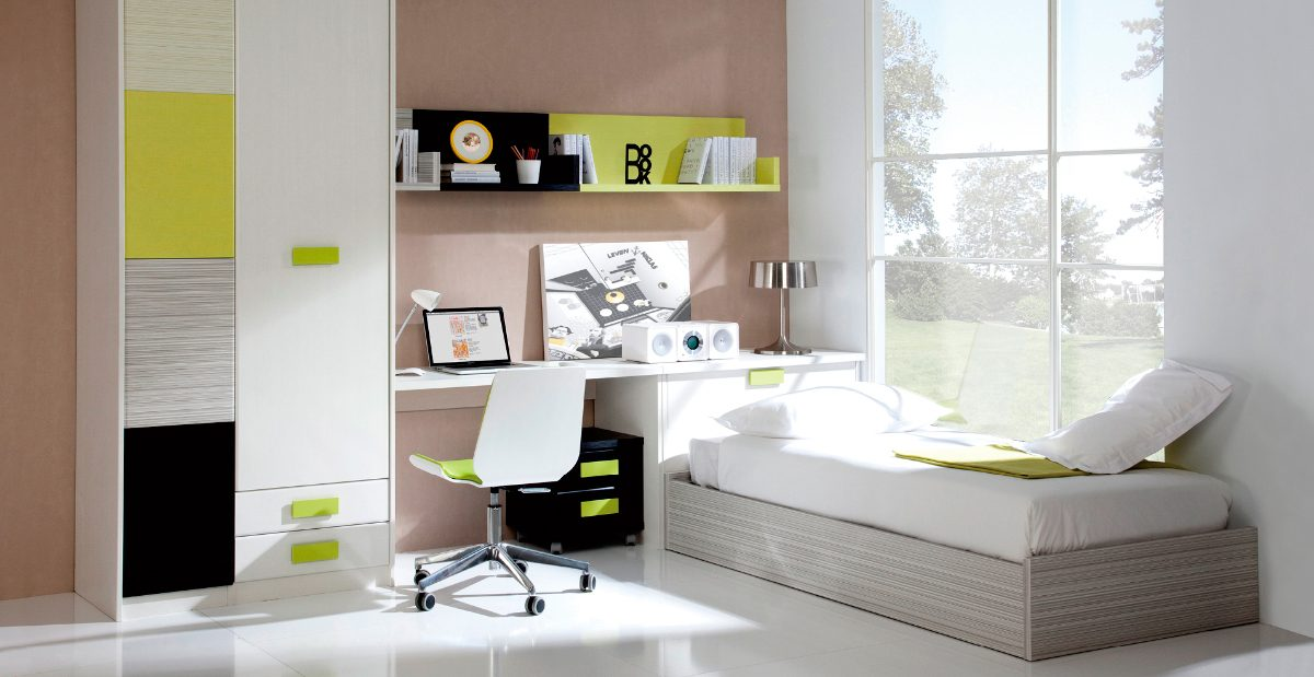 Muebles para habitaciones juveniles for Diseno de interiores habitaciones juveniles