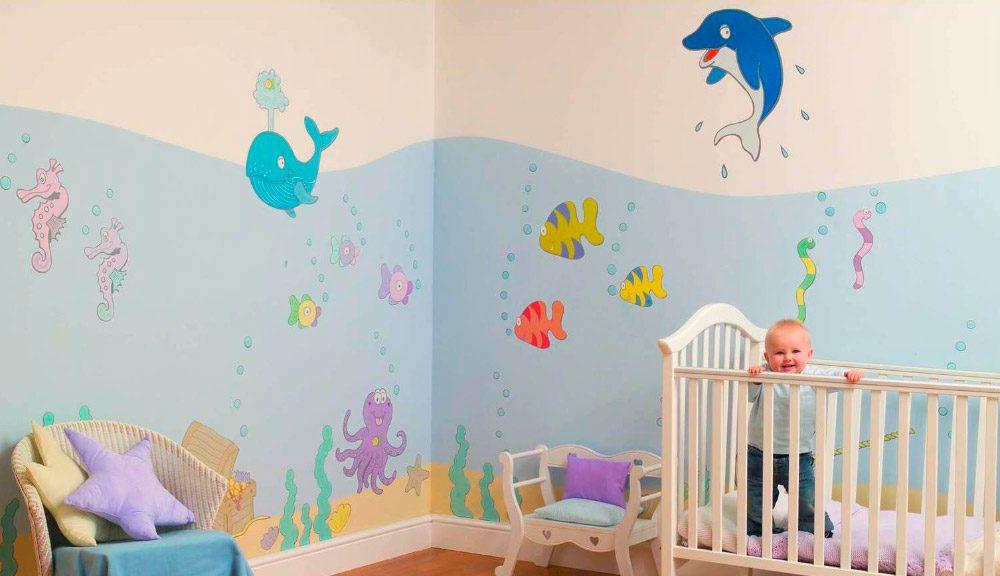 Mural marino para habitaci n de beb im genes y fotos - Habitaciones originales para ninos ...