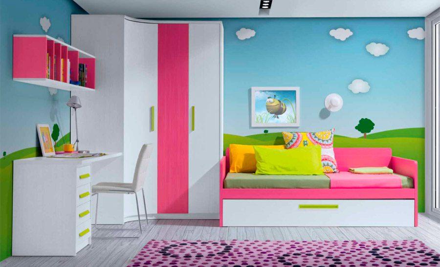 Mural para ni os con un paisaje im genes y fotos - Murales para habitaciones infantiles ...