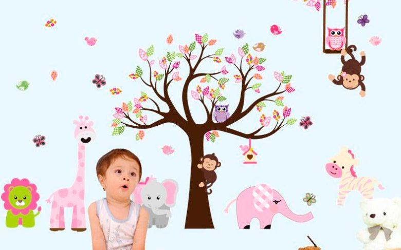 Vinilos infantiles con animales del bosque im genes y fotos for Vinilos para habitaciones de ninas