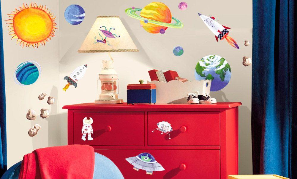 Vinilos infantiles del espacio y naves espaciales for Vinilos en habitaciones infantiles