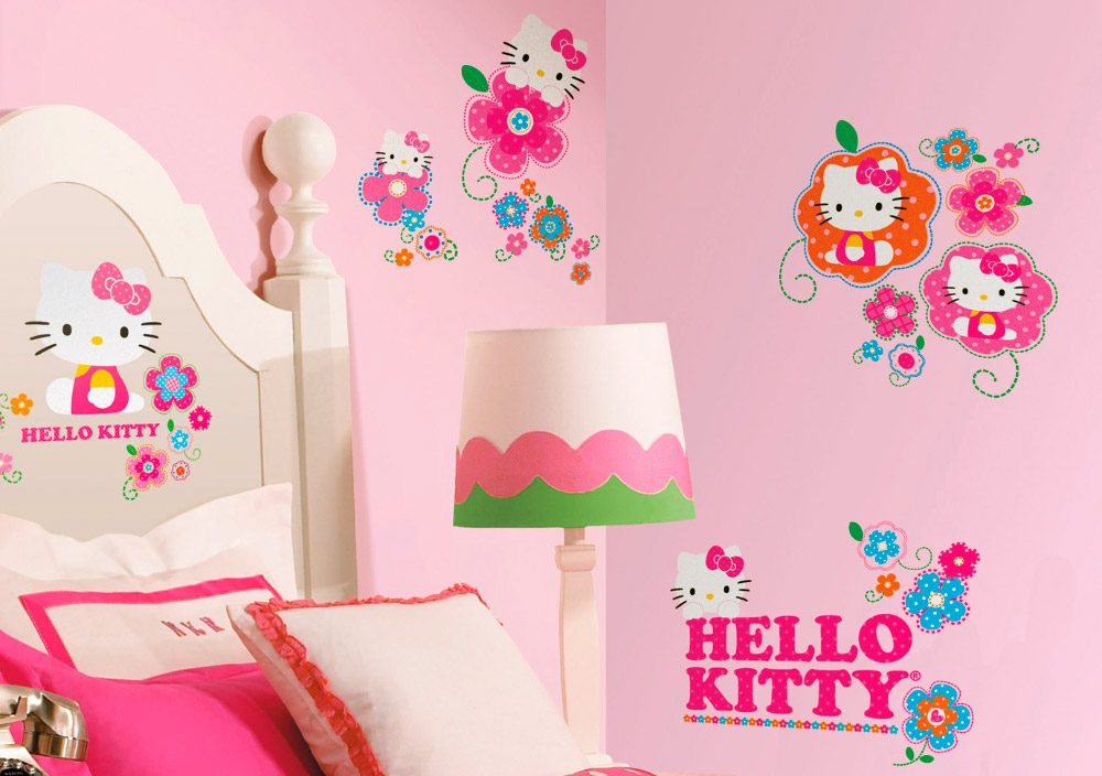 Decoracion kitty habitaciones for Pegatinas para habitaciones infantiles